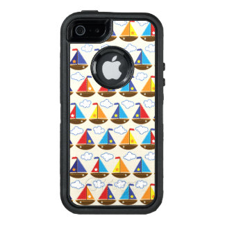 Cute Sailboat Pattern 2 OtterBox Defender iPhone Case