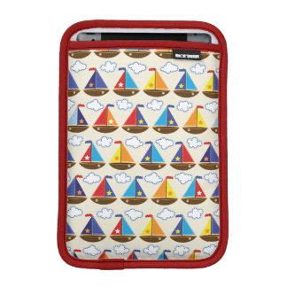Cute Sailboat Pattern 2 Sleeve For iPad Mini