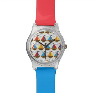 Cute Sailboat Pattern 2 Watch