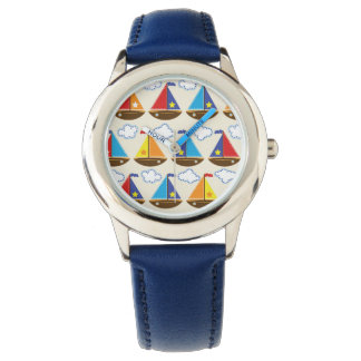 Cute Sailboat Pattern 2 Wristwatches