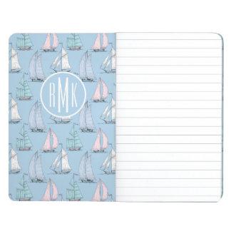 Cute Sailboat Pattern | Monogram Journal