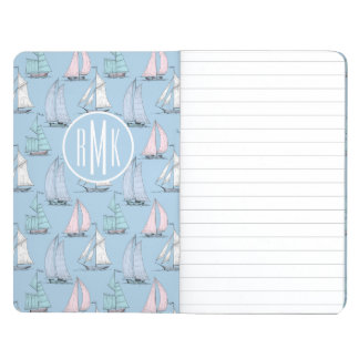 Cute Sailboat Pattern | Monogram Journals