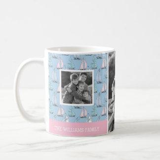 Cute Sailboat | Photo with Monogram | Monogram Coffee Mug