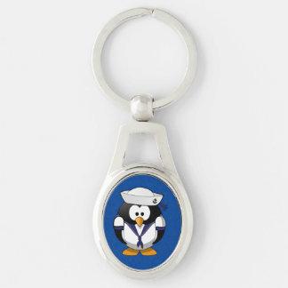 Cute Sailor Penguin Nautical Key Chain