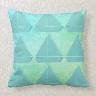 Cute Sailor Sail Boat Pattern Pillow