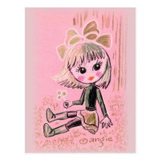 Cute Saint Patrick s Irish Girl With Clover Post Cards