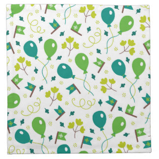 Cute Saint Patrick's Day Balloons and Flags Napkin