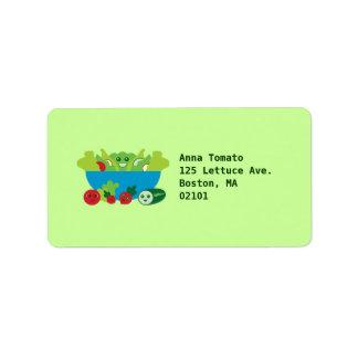 Cute Salad Address Label
