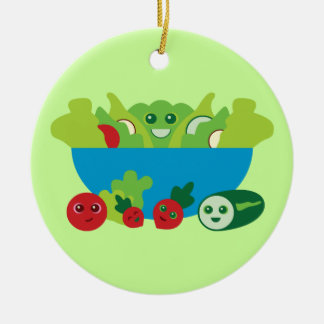 Cute Salad Christmas Ornament