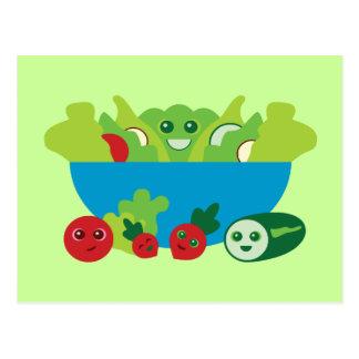 Cute Salad Postcard