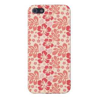 Cute Salmon and Coral Pink Floral Pattern iPhone 5 Cases