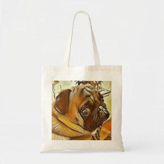 Cute Sangha Pug Tote Bag