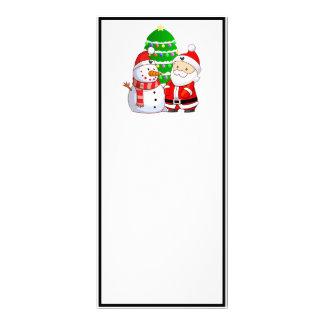 Cute Santa And Snowman Rack Card Design