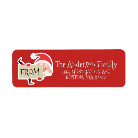 Cute Santa Christmas Address Label