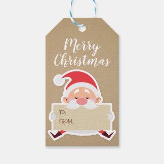 Cute Santa Christmas Gift Tag