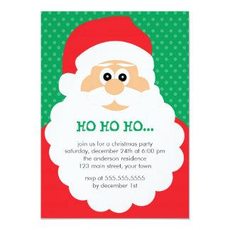 Cute Santa Christmas Party Card