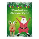 Cute Santa Christmas Party Invites 13 Cm X 18 Cm Invitation Card