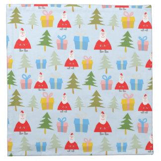 Cute Santa Christmas Pattern Napkin