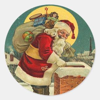 Cute Santa Christmas stickers
