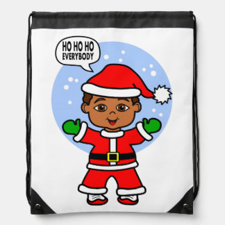 Cute Santa Claus Boy Image for the Holidays Rucksack