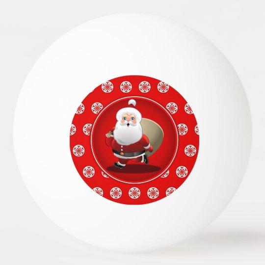 Cute Santa Claus Cartoon Ping Pong Ball