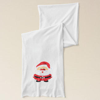 Cute Santa Claus Christmas custom holiday Scarf