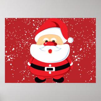 Cute Santa Claus Christmas custom Print