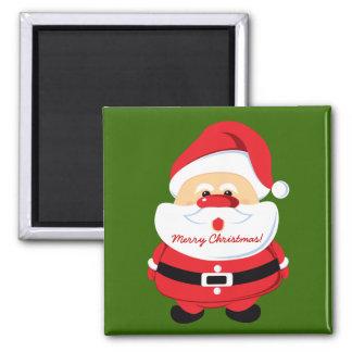 Cute Santa Claus Christmas design Square Magnet