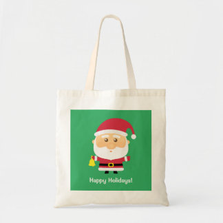 Cute Santa Claus Christmas For Kids Budget Tote Bag
