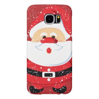 Cute Santa Claus Christmas holiday Samsung Galaxy S6 Cases