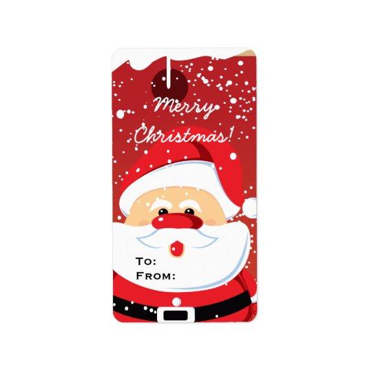 Cute Santa Claus custom Avery label Address Label