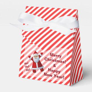 Cute Santa Claus Ho Ho Ho Merry Christmas Stripes Favour Box