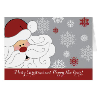 Cute Santa Claus Holiday Customised Folding Card