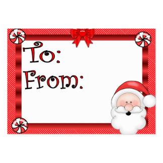 Cute Santa Claus Holiday Gift Tag Business Card Templates