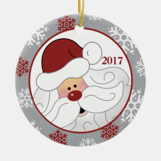 Cute Santa Claus Holiday Ornament - Add the Year
