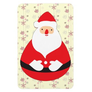 Cute Santa Claus Roly-poly Toy Flexible Magnets