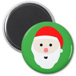Cute Santa Claus Round Magnet