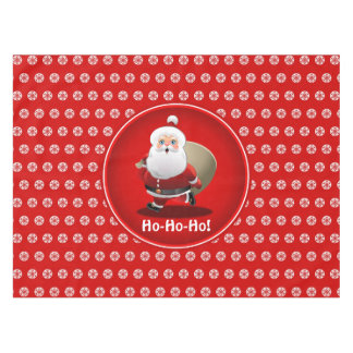 Cute Santa Claus With A Sack Full Of Gifts Tablecloth