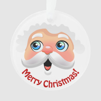 Cute Santa Claus With Your Customized Greetings Ornament