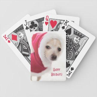 Cute Santa Dog Playing Cards