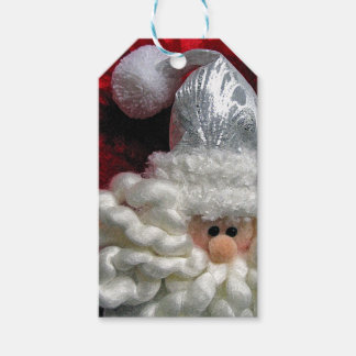 Cute santa face christmas gift tags