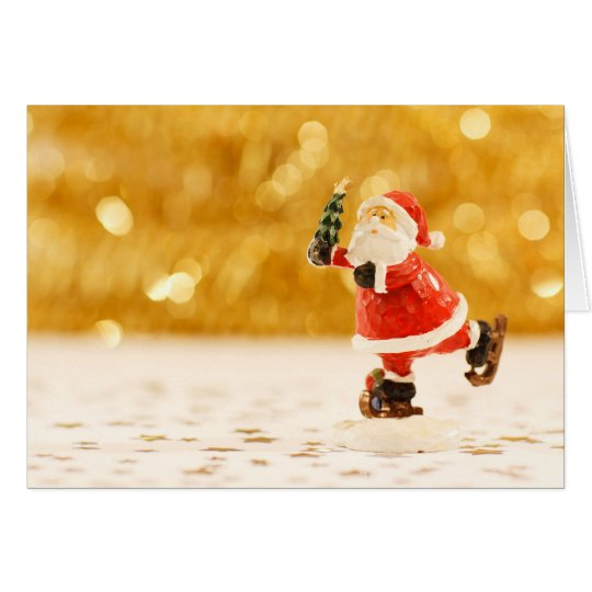 Cute Santa figure on Christmas card