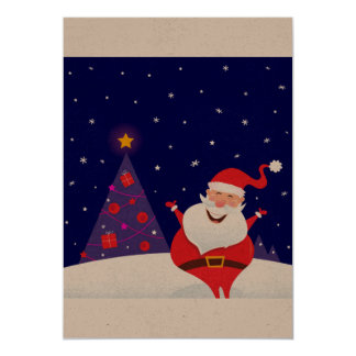 Cute santa greeting : Recycle old paper Card