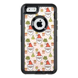 Cute Santa OtterBox Defender iPhone Case