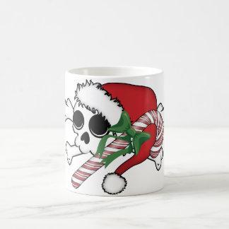 Cute Santa Skull Coffee Mug