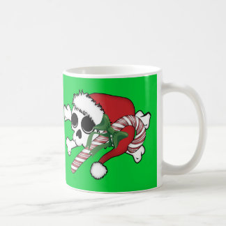 Cute Santa Skull Basic White Mug
