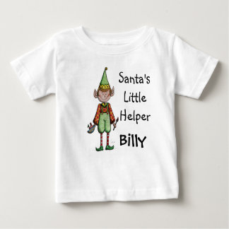Cute Santa's Little Helper Elf Baby T shirt