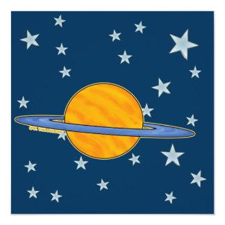 Cute Saturn & Stars Invitations