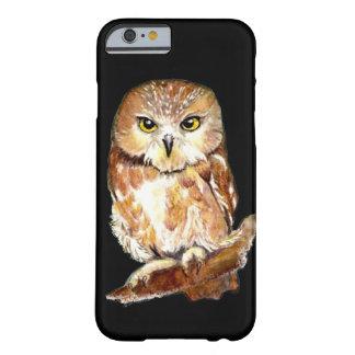 Cute Saw Whet Owl Attitude Fun Bird watercolor art iPhone 6 Case
