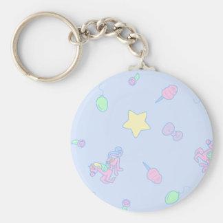 Cute Sax Blue Carousel Keychain